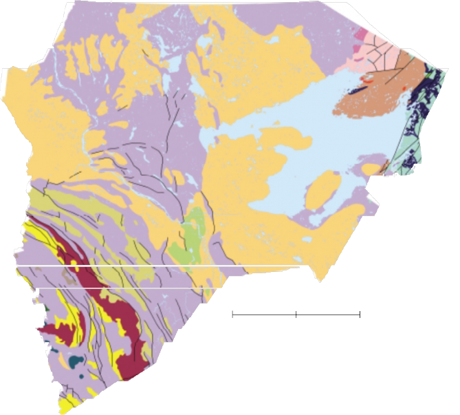 bedrock geological map