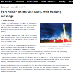 Fort Nelson chiefs visit Sahtu with fracking message