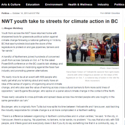 NWT youth take to streets for climate action in BC