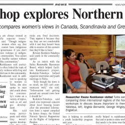 Workshop explores Northern issues