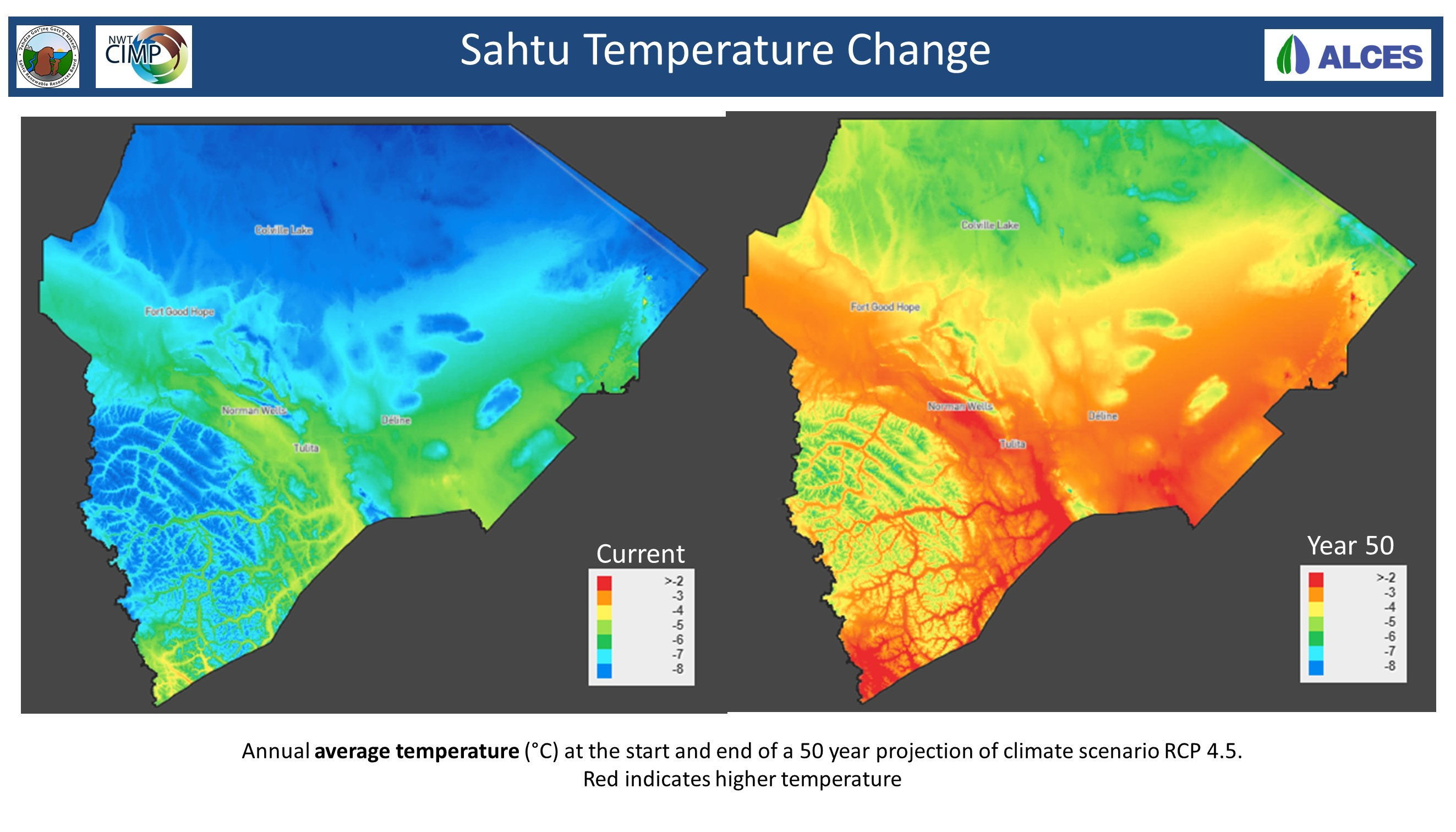 Sahtu Temperature Change