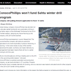 ConocoPhillips won't fund Sahtu winter drill program
