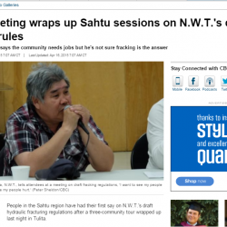 Tulı́t'a meeting wraps up Sahtu sessions on N.W.T.'s draft fracking rules