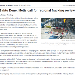 Sahtu Dene, Métis call for regional fracking review