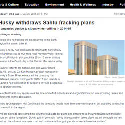 Husky withdraws Sahtu fracking plans