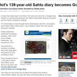 Émile Petitot's 139-year-old Sahtu diary becomes Google Map