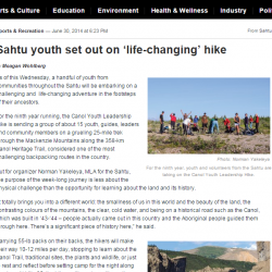 Sahtu youth set out on 'life-changing' hike